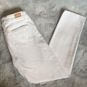 PAIGE Denim Kylie Crop White Skinnies